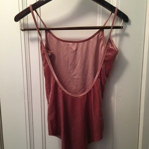 Zara Velvet Pink Bodysuit